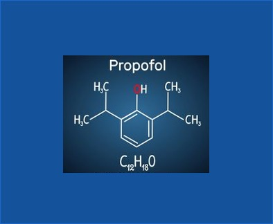 Calculating lipids from propofol